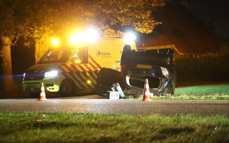 Bestuurder gewond bij ongeval op de Leidijk bij Waskemeer.