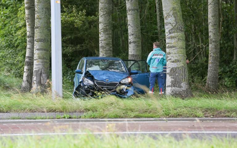Meerdere gewonden bij aanrijding op N384 bij Franeker.
