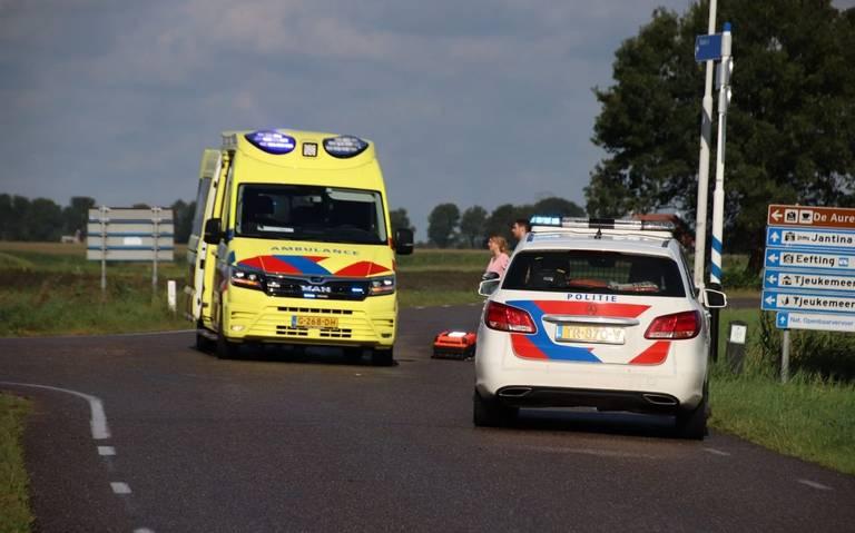 Scooterrijder gewond bij botsing met auto bij Rotsterhaule.