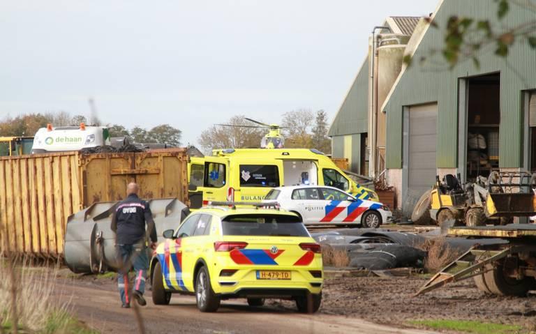 Ernstig ongeluk bij boerenbedrijf in Gytsjerk.