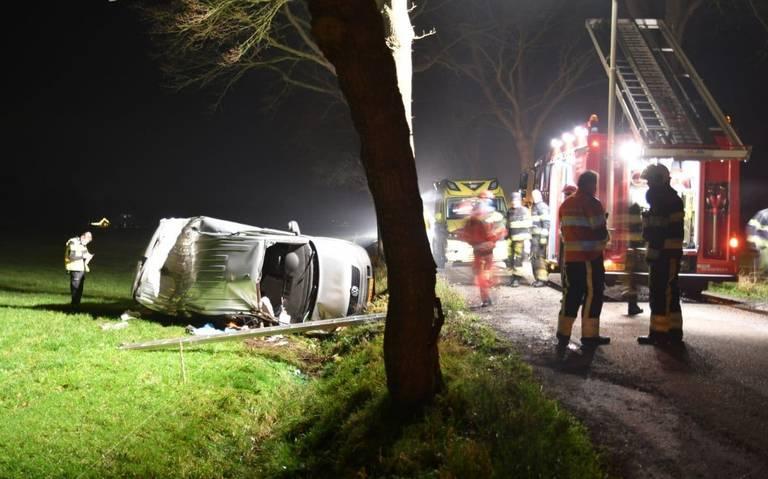 Gewonde bij ongeval in Bakkeveen.