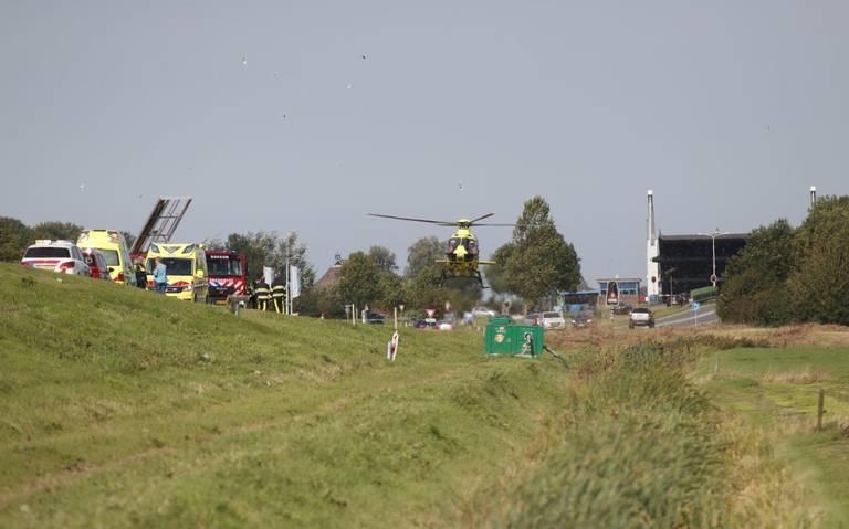 Gewonde bij ernstig ongeval op rondweg Dokkum.