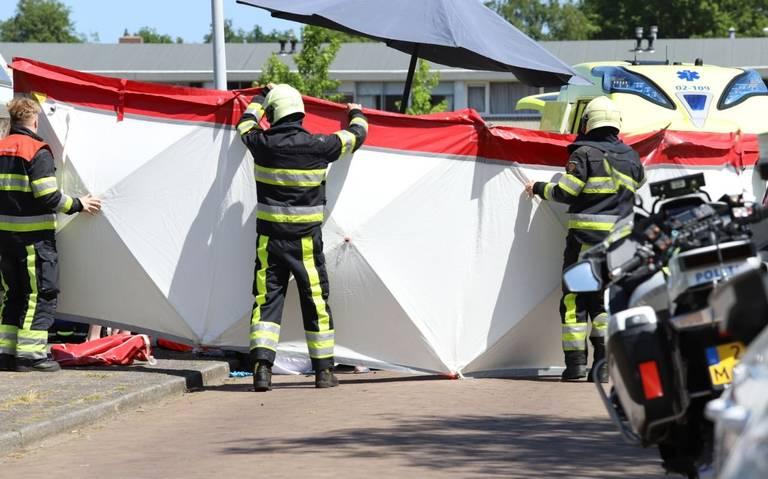 Motorrijder gewond na botsing met lantaarnpaal in Drogeham.