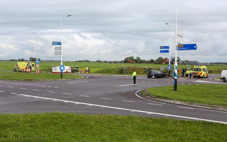 Ongeval op kruispunt Wommels Noord op de Westergoawei.