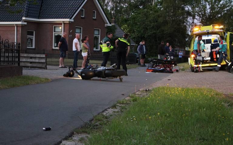 Motorrijder gewond bij eenzijdig ongeval in Ureterp.