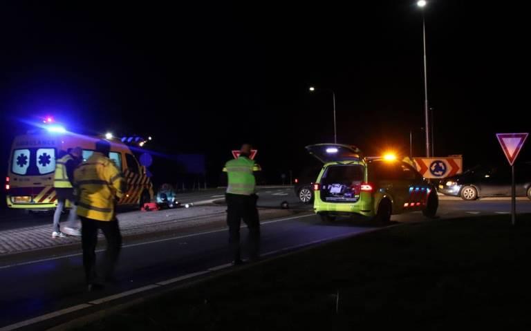 Motorrijder ernstig gewond bij ongeval in Sneek.