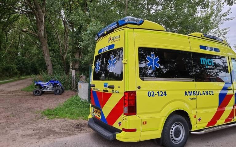 Quadrijder gewond bij ongeval Drogeham.