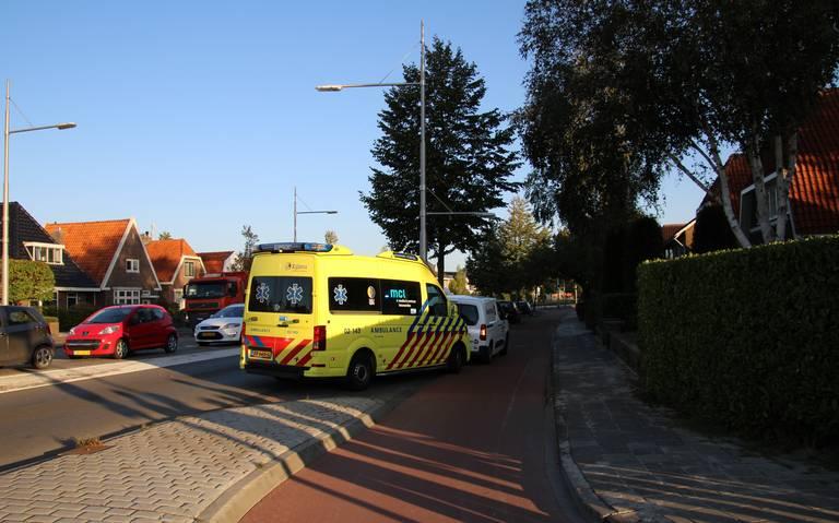 Fietser aangereden door bestelbus in Leeuwarden.