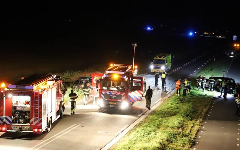 Twee gewonden bij botsing op Ljouwerterdyk Ferwert.