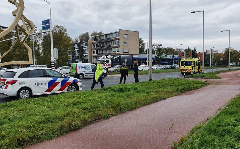 Politie vindt automobilist die doorreed na aanrijding in Leeuwarden.