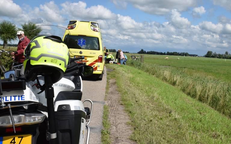Wielrenner gewond bij botsing in Augsbuurt.