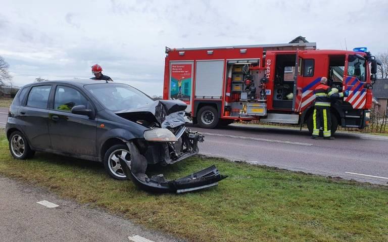 Bestuurder gewond bij kop-staartbotsing op N918 bij Haule.