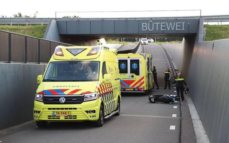 Twee gewonden bij ongeval met scooter bij Ureterp.